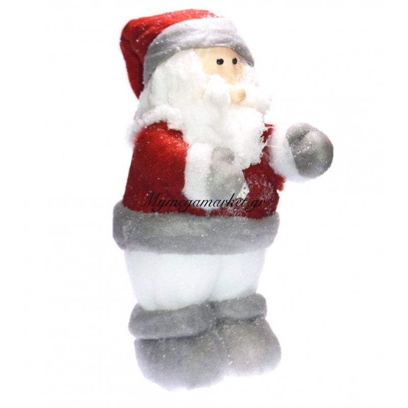 Άγιος Βασίλης από Πολυουρεθάνη με υφασμάτινη στολή by Mymegamarket.gr