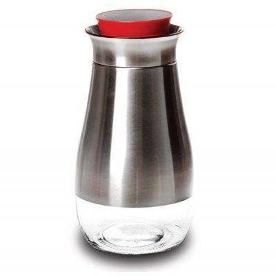 Βάζο - Δοχείο αποθήκευσης γυαλί με inox - No 24 - Nava