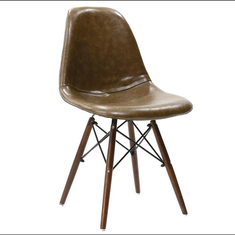 Καρέκλα Julita πολυπροπυλενίου με PU χρώμα σκούρο καφέ επαγγελματική κατασκευή
