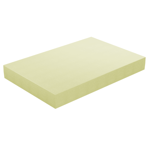 Φύλλο Αφρολέξ Μασίφ 1000 Σκληρότητα Medium - Κίτρινο 120 X 220 x (2 εώς 30 εκ.)