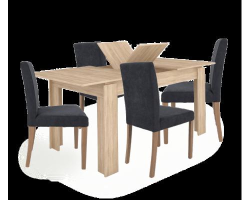 Σετ 5 τμχ. Sorisso 2 Τραπέζι  + Point Καρέκλα Ανθρακί 03-0701/02-0174