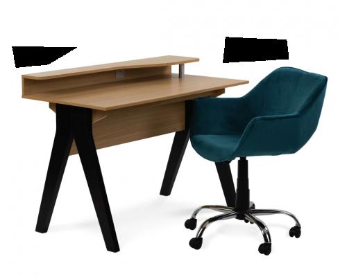 Σετ 2 τμχ. Caliper Γραφείο Sonoma + Forminx Καρέκλα Γραφείου Μπλε 25-0496/28-0129