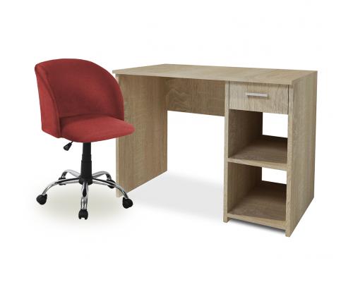 Σετ 2 τμχ. Adorno Γραφείο Sonoma + Unique Καρέκλα Γραφείου Raspberry 24-0386/25-0501