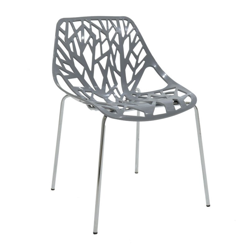 Καρέκλα Mare πολυπροπυλενίου χρώμα γκρι επαγγελματική κατασκευή