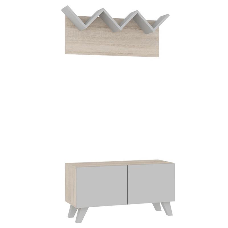 Έπιπλο εισόδου Μarti χρώμα λευκό-sonoma 80x31x42