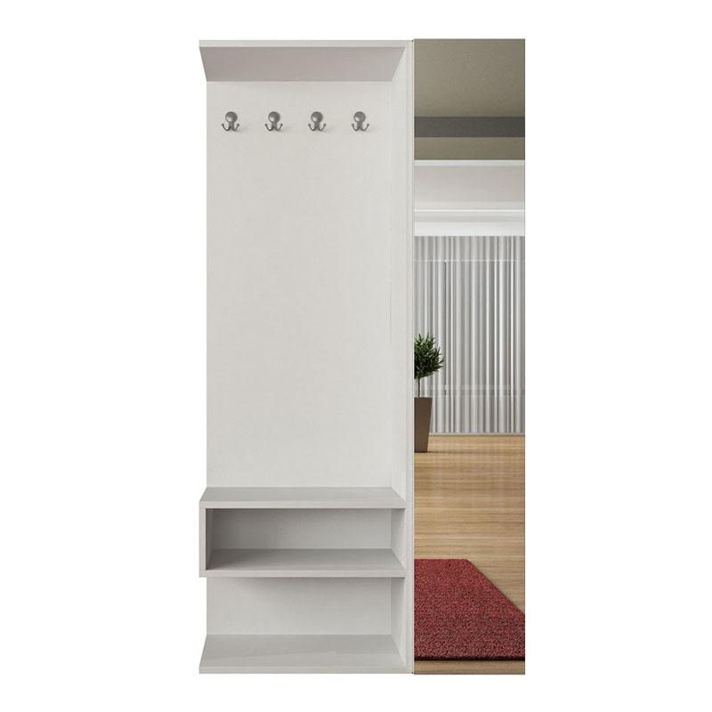 Έπιπλο εισόδου-παπουτσοθήκη Goro χρώμα λευκό 94x32x184