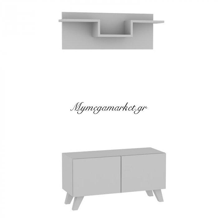 Έπιπλο εισόδου U χρώμα λευκό 80x31x42 | Mymegamarket.gr