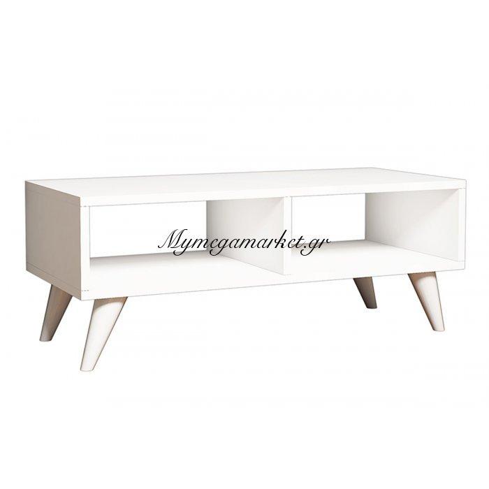 Έπιπλο τηλεόρασης manolya tv χρώμα λευκό 90x35x40 | Mymegamarket.gr