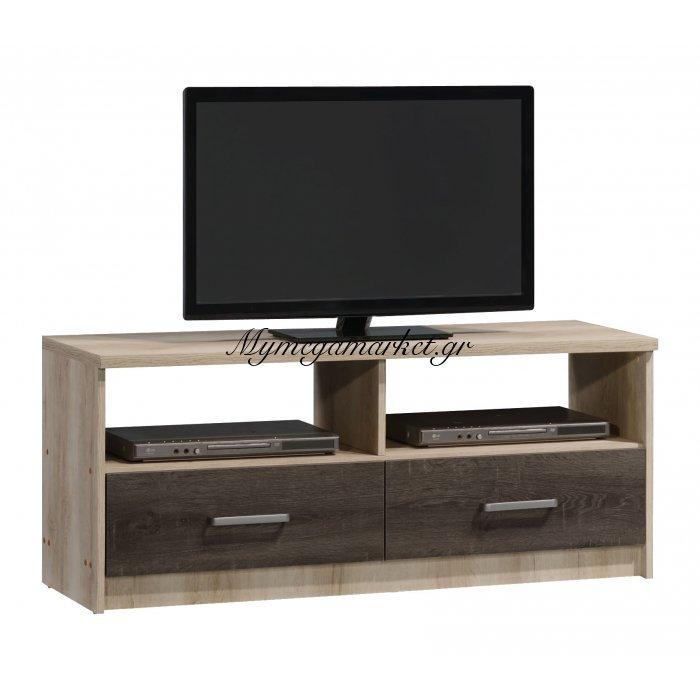 Έπιπλο τηλεόρασης OLYMPUS χρώμα castillo-toro δρυς 120x39,5x50,5εκ. | Mymegamarket.gr