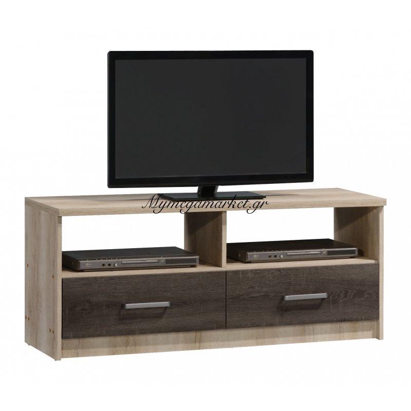 Έπιπλο τηλεόρασης OLYMPUS χρώμα castillo-toro δρυς 120x39,5x50,5εκ.