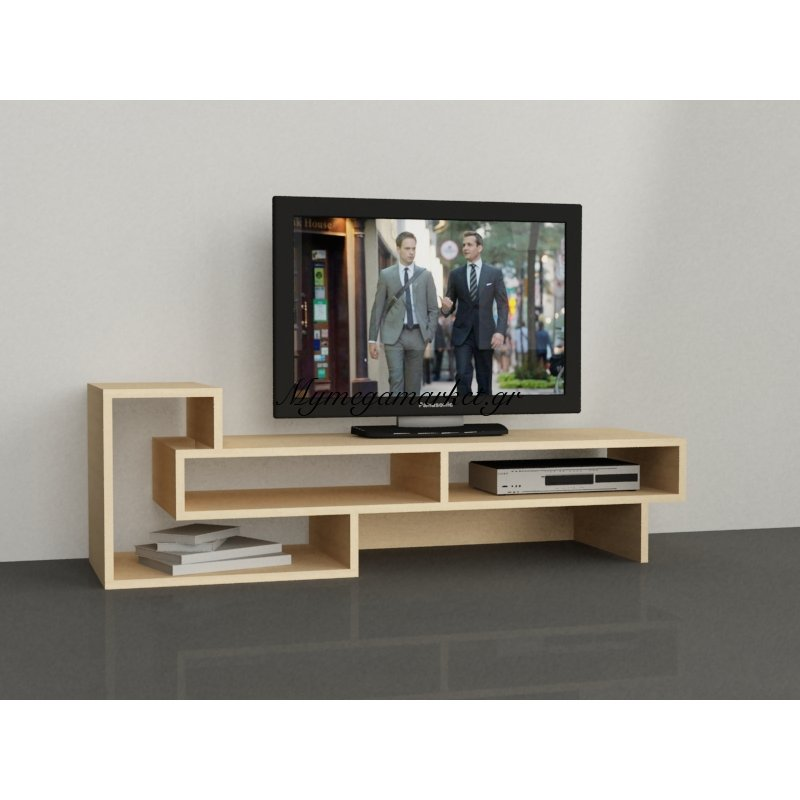 Έπιπλο τηλεόρασης Tetra χρώμα φυσικό 125x40x42εκ