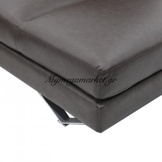 Γωνιακός καναπές Noah με PU χρώμα σκούρο καφέ 285x235x88 Στην κατηγορία Καναπέδες - Κρεβάτια | Mymegamarket.gr