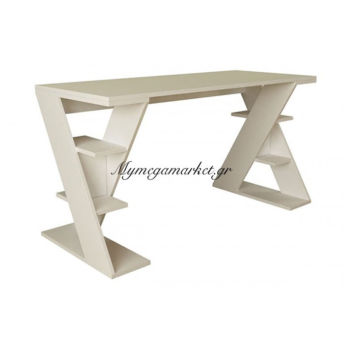 Γραφείο εργασίας Papillon χρώμα λευκό 140x60x75εκ | Mymegamarket.gr