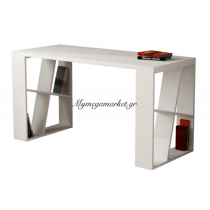 Γραφείο Honey χρώμα λευκό 140x60x75εκ