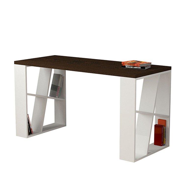 Γραφείο Honey χρώμα wenge - λευκό 140x60x75