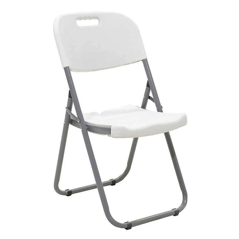 Καρέκλα catering-συνεδρίου πτυσσόμενη EDISON από ενισχυμένο μεταλλικό σκελετό χρώματος γκρι