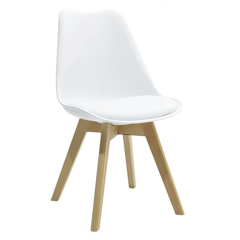 Καρέκλα Gaston πολυπροπυλενίου με PU χρώμα λευκό επαγγελματική κατασκευή
