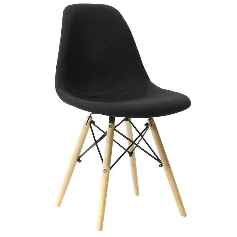 Καρέκλα Julita πολυπροπυλενίου με επένδυση υφάσματος χρώμα μαύρο επαγγελματική κατασκευή