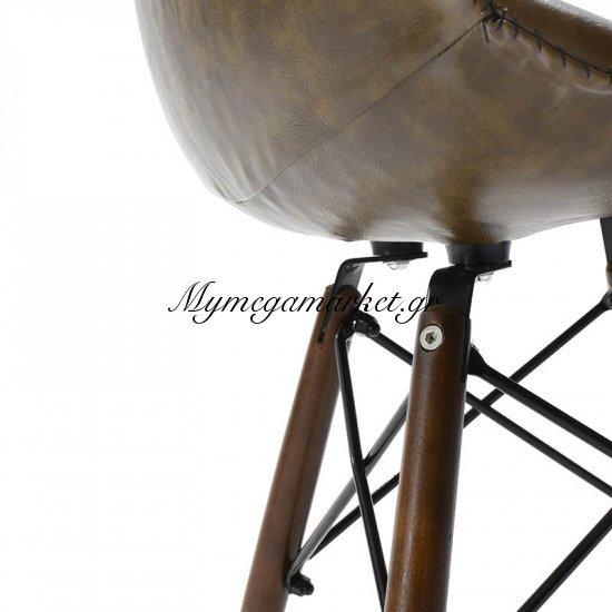 Καρέκλα Julita πολυπροπυλενίου με PU χρώμα σκούρο καφέ επαγγελματική κατασκευή Στην κατηγορία Καρέκλες εσωτερικού χώρου | Mymegamarket.gr