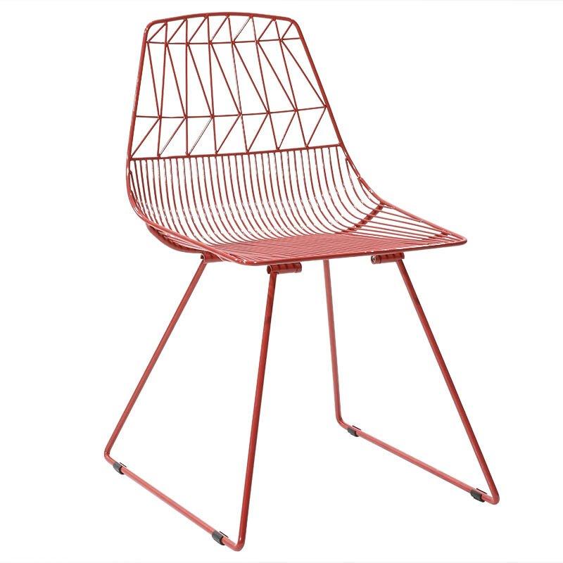 Καρέκλα Morena απο ενισχυμένο μεταλλικό σκελετό σε χρώμα κόκκινο
