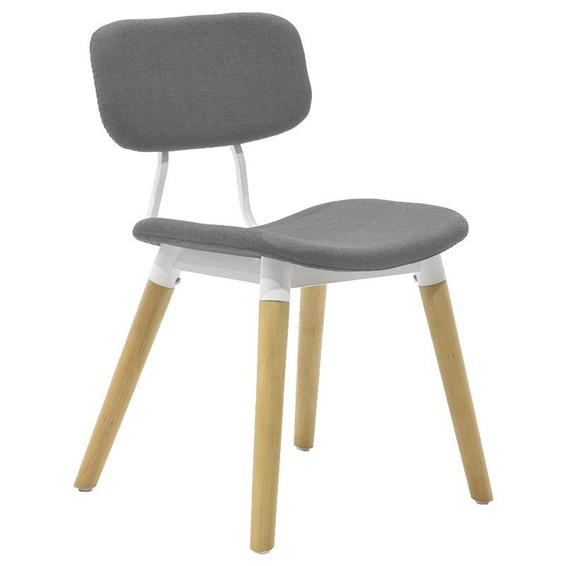 Καρέκλα Narla υφασμάτινη χρώμα γκρι