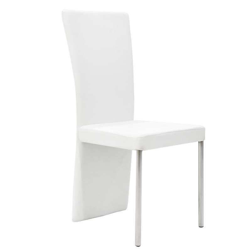 Καρέκλα Tina με PU χρώμα λευκό