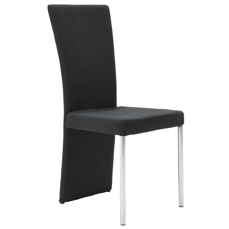 Καρέκλα Tina υφασμάτινη χρώμα μαύρο