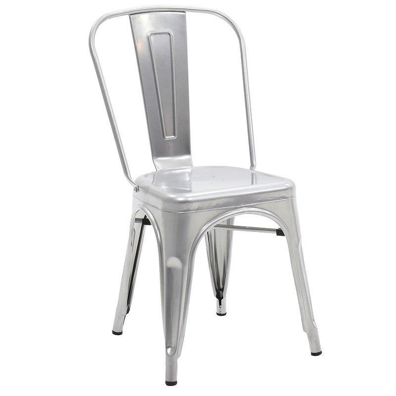 Καρέκλα Utopia μεταλλική χρώμα ασημί