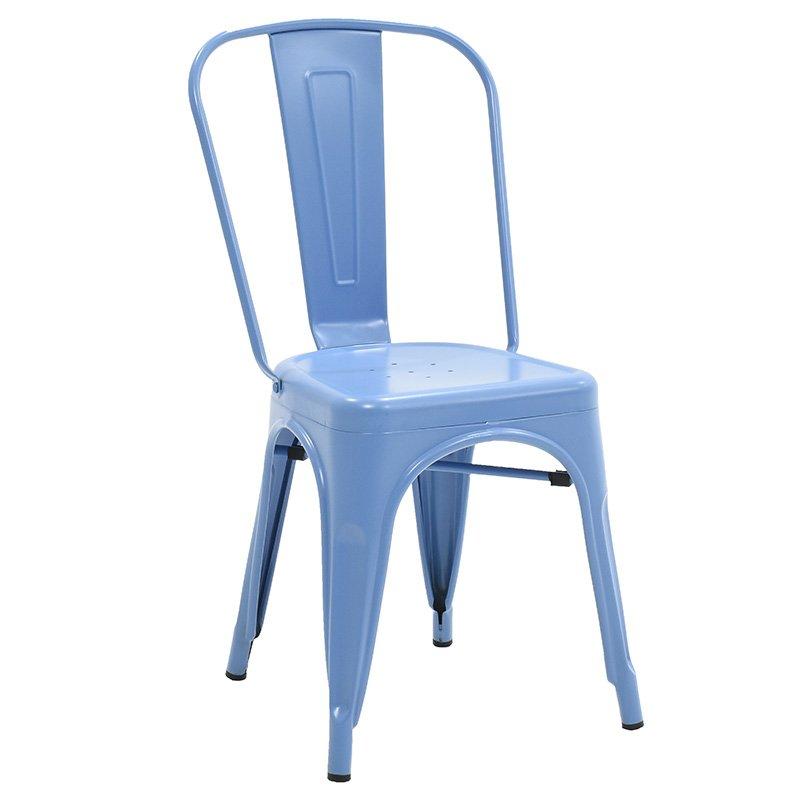 Καρέκλα Utopia μεταλλική χρώμα μπλε