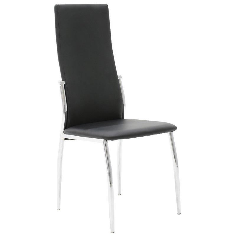 Καρέκλα Vana με PU χρώμα μαύρο