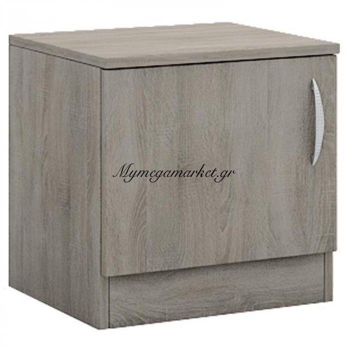 Κομοδίνο Deco 111 με ένα ντουλάπι χρώμα sonoma 40x35,5x41 | Mymegamarket.gr