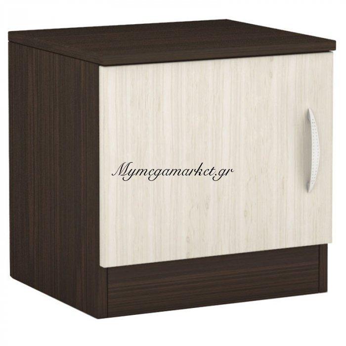 Κομοδίνο Deco 111 με ένα ντουλάπι χρώμα wenge-oak 40x35,5x41 | Mymegamarket.gr