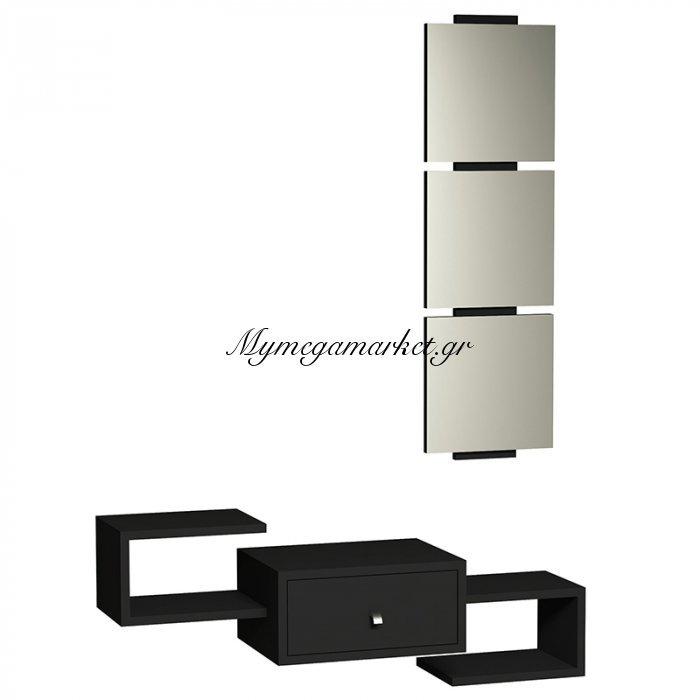 Κονσόλα τοίχου Dorado Coat με καθρέφτη μαύρο χρώμα   Mymegamarket.gr