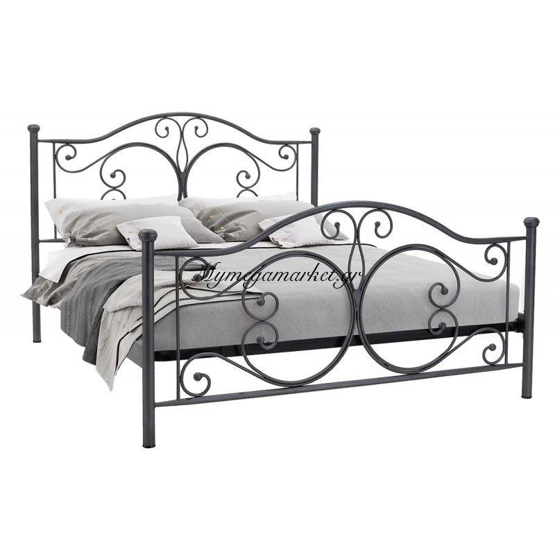 Κρεβάτι Corpus μεταλλικό 160x200 γκρι