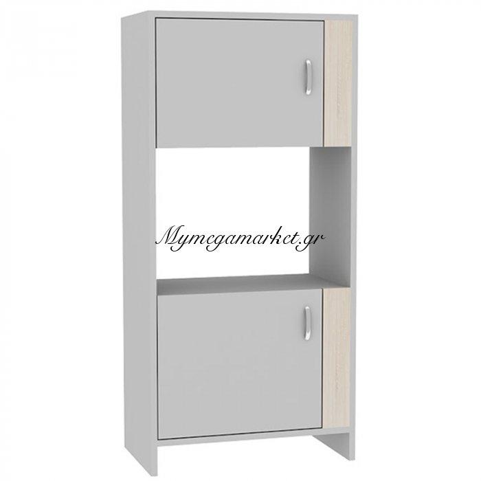 Ντουλάπι μπάνιου και κουζίνας Vetra χρώμα λευκό-sonoma 60x35x125 | Mymegamarket.gr