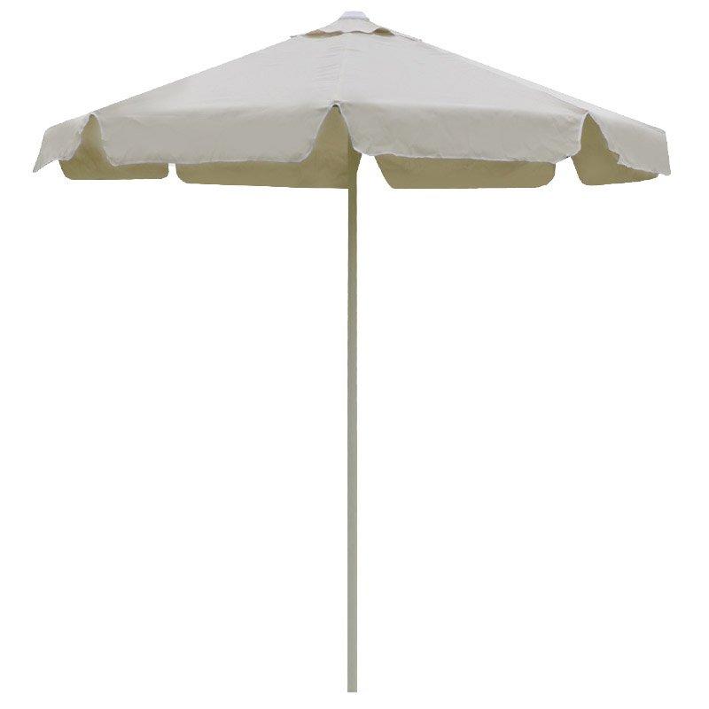 Ομπρέλα κήπου-παραλίας Shadow μεταλλική με μονοκόμματο μεταλλικό σωλήνα Φ2,35m εκρού ύφασμα