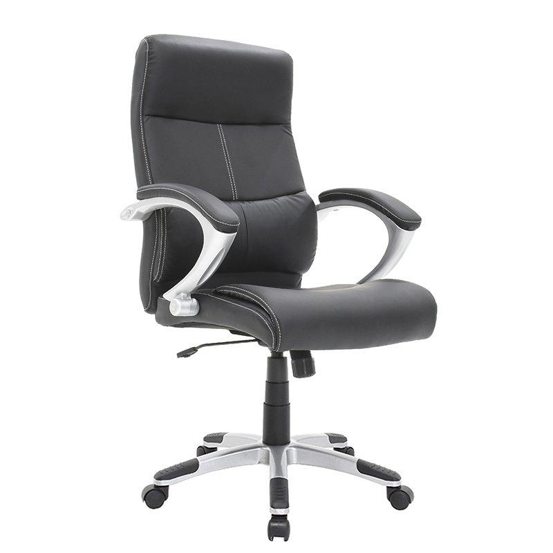 Πολυθρόνα γραφείου διευθυντή Anatole με PU χρώμα μαύρο