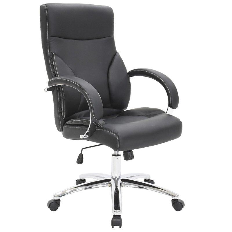 Πολυθρόνα γραφείου διευθυντή Filippo με PU χρώμα μαύρο
