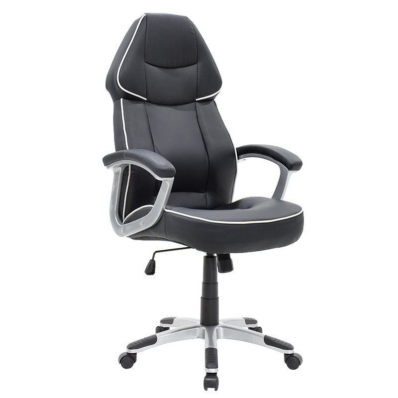 Πολυθρόνα γραφείου διευθυντή Henry με PU χρώμα μαύρο