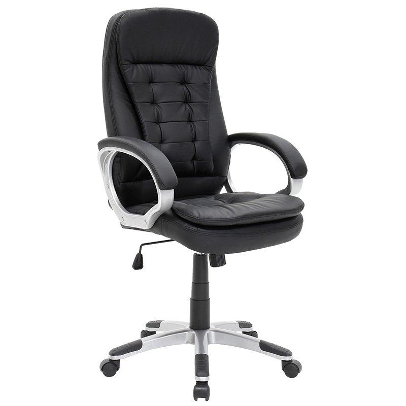 Πολυθρόνα γραφείου διευθυντή Jeri με PU χρώμα μαύρο