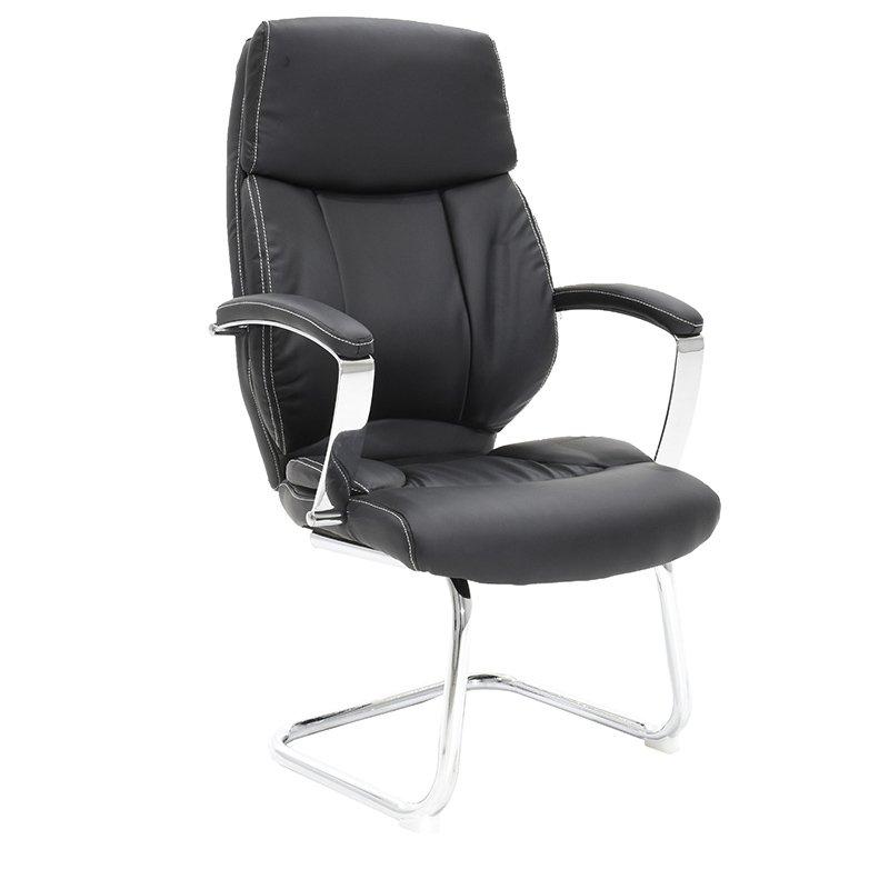 Πολυθρόνα γραφείου επισκέπτη Charlot με PU χρώμα μαύρο