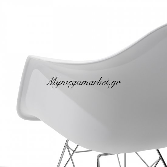 Πολυθρόνα Julita κουνιστή πολυπροπυλενίου χρώμα λευκό ματ επαγγελματική κατασκευή Στην κατηγορία Πολυθρόνες σαλονιού | Mymegamarket.gr