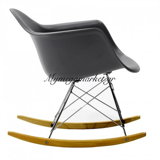 Πολυθρόνα Julita κουνιστή πολυπροπυλενίου χρώμα μαύρο ματ επαγγελματική κατασκευή Στην κατηγορία Πολυθρόνες σαλονιού | Mymegamarket.gr