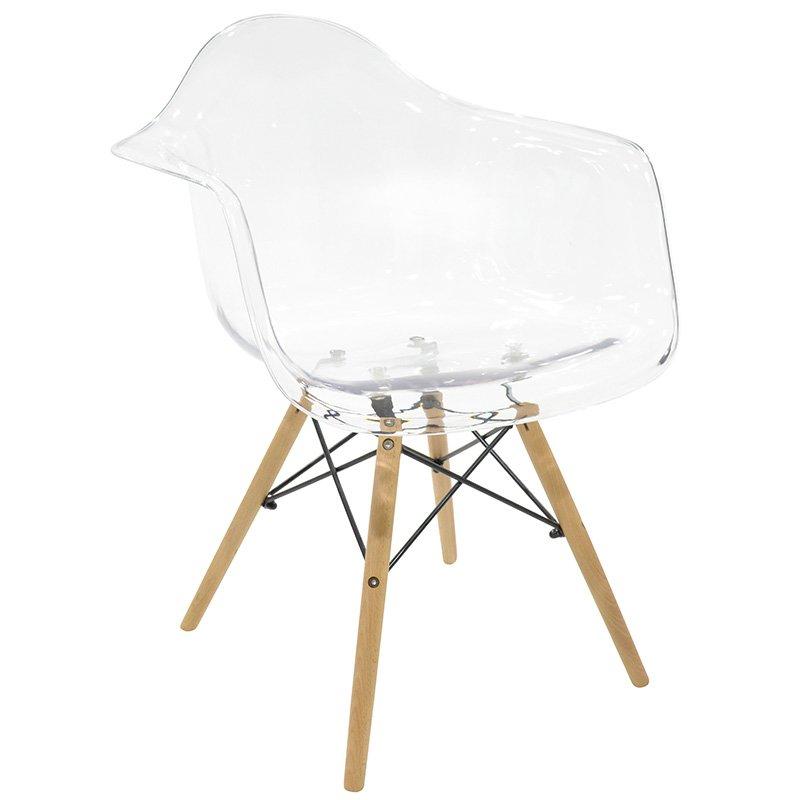 Πολυθρόνα Julita PC Polycarbonate χρώμα διάφανο επαγγελματική κατασκευή