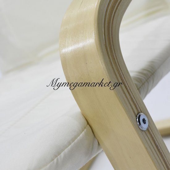 Πολυθρόνα Renata υφασμάτινη χρώμα εκρού Στην κατηγορία Πολυθρόνες σαλονιού | Mymegamarket.gr