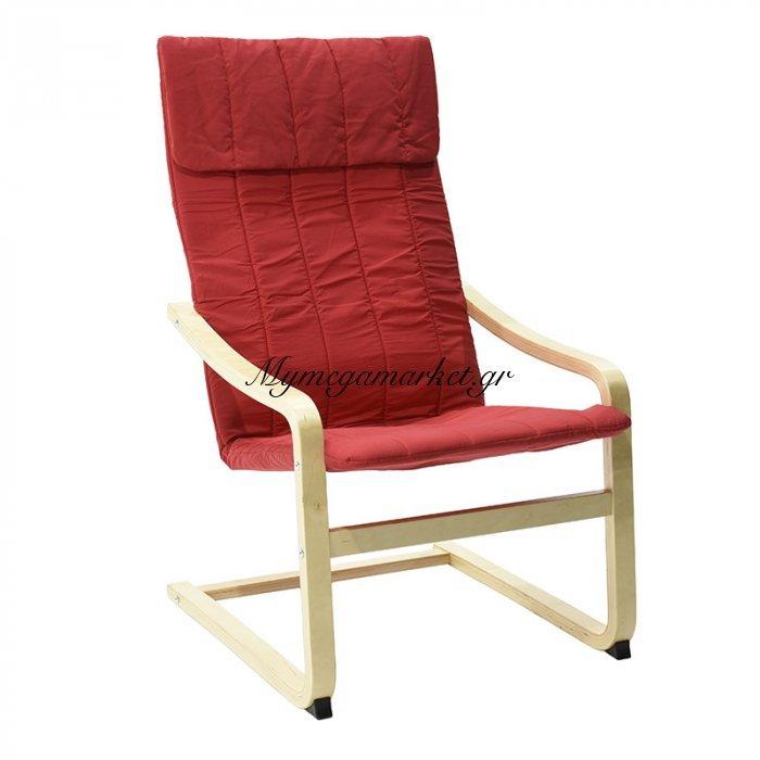 Πολυθρόνα Renata υφασμάτινη χρώμα κόκκινο | Mymegamarket.gr