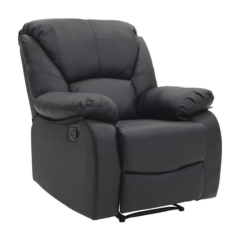 Πολυθρόνα Salina ανοιγόμενη με PU χρώμα μαύρο