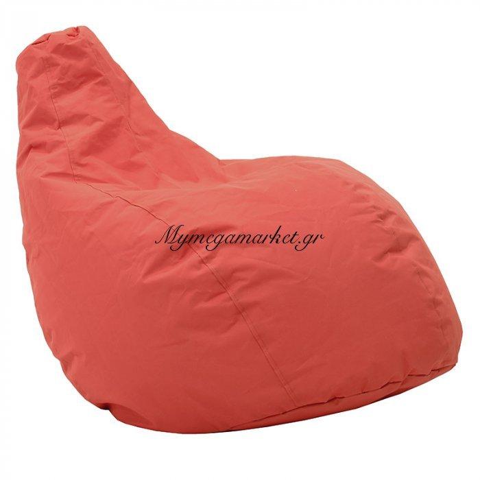 Πουφ πολυθρόνα Basic υφασμάτινο αδιάβροχο κόκκινο | Mymegamarket.gr