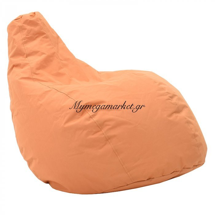 Πουφ πολυθρόνα Basic υφασμάτινο αδιάβροχο πορτοκαλί | Mymegamarket.gr