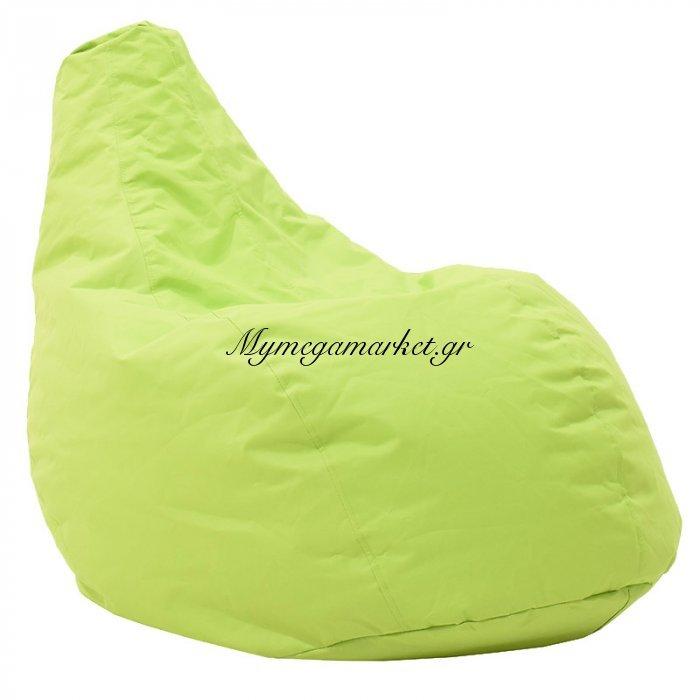 Πουφ πολυθρόνα Basic υφασμάτινο αδιάβροχο πράσινο | Mymegamarket.gr